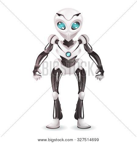 Robot Artificial Intelligence Future Mechanical Mascot Scifi Technology Science Fiction 3d Design Ve