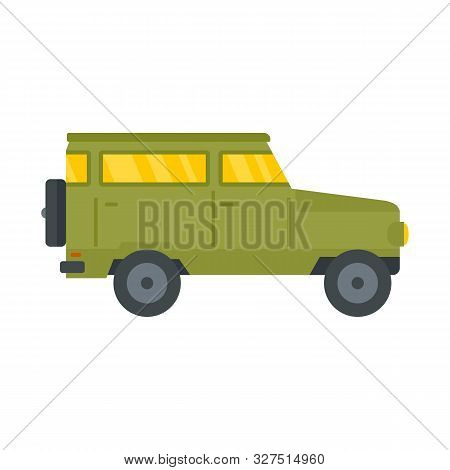 Hunting Off Road Car Icon. Flat Illustration Of Hunting Off Road Car Vector Icon For Web Design