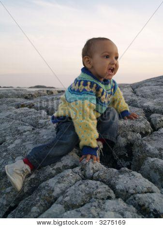 Baby On Rock