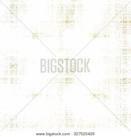 Gold Foil Seamless Vector Grunge Texture Background. Patina Scratch Golden Repeating Tile. Distresse