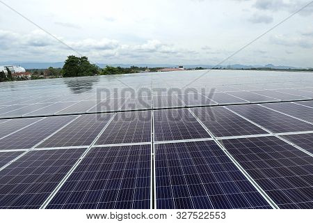 Large Scale Solar Pv System On The Warehouse Roof