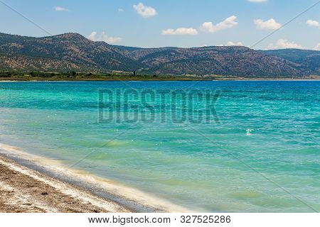 Lake Salda, A Mid-size Crater Lake In Southwestern Turkey, Within The Boundaries Of Yesilova Distric