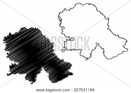 Autonomous Province Of Vojvodina (republic Of Serbia) Map Vector Illustration, Scribble Sketch Vojvo