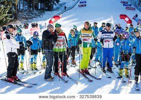 Bansko, Bulgaria - December, 12, 2015: Open New Ski Season 2015-2016 In Bansko, Bulgaria. Marc Girar