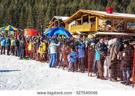 Bansko, Bulgaria - December, 12, 2015: Opening New Ski Season 2015-2016 In Bansko, Bulgaria. People