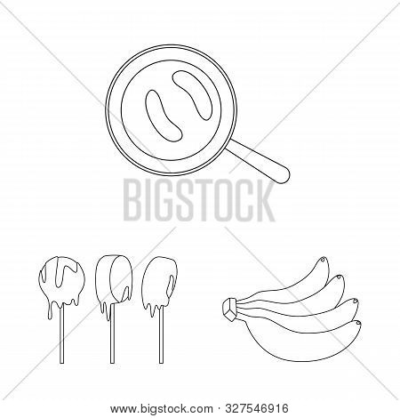 Isolated Object Of Organic And Potassium Logo. Collection Of Organic And Diet Vector Icon For Stock.