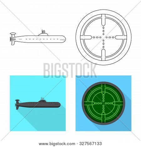 Vector Illustration Of War And Ship Icon. Set Of War And Fleet Stock Vector Illustration.