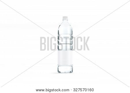 Blank Transparent Plastic Bottle Mock Up, Isolated, 3d Rendering. Empty Mineral Water Package Mockup