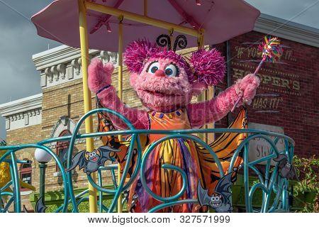 Orlando, Florida. October 5, 2019. Abby Cadabby In Sesame Street Party Parade At Seaworld 21
