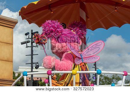Orlando, Florida. October 5, 2019. Abby Cadabby In Sesame Street Party Parade At Seaworld 1