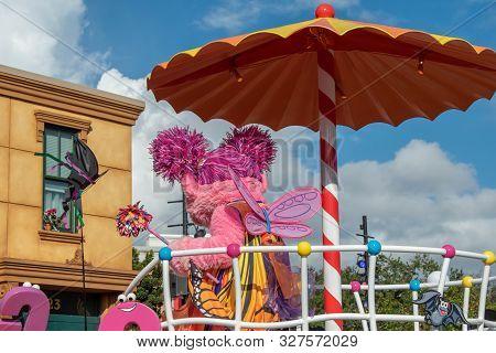 Orlando, Florida. October 5, 2019. Abby Cadabby In Sesame Street Party Parade At Seaworld 2