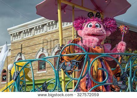 Orlando, Florida. October 5, 2019. Abby Cadabby In Sesame Street Party Parade At Seaworld 23