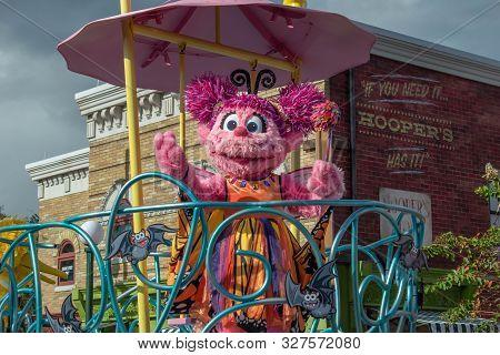 Orlando, Florida. October 5, 2019. Abby Cadabby In Sesame Street Party Parade At Seaworld 20