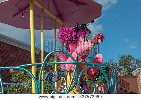 Orlando, Florida. October 5, 2019. Abby Cadabby In Sesame Street Party Parade At Seaworld 24