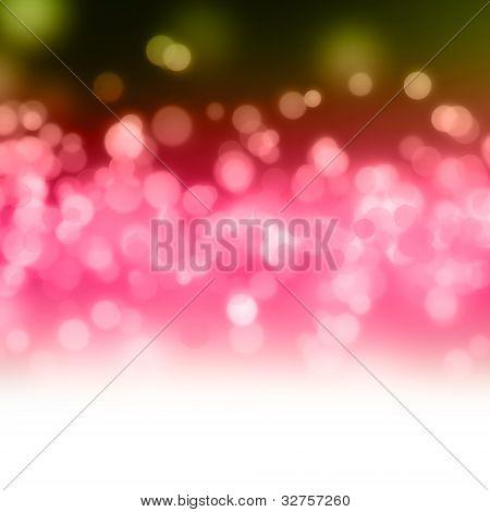 Wonderful bubble design illustration in green + orange + pink