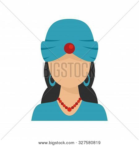 Woman Fortune Teller Icon. Flat Illustration Of Woman Fortune Teller Vector Icon For Web Design