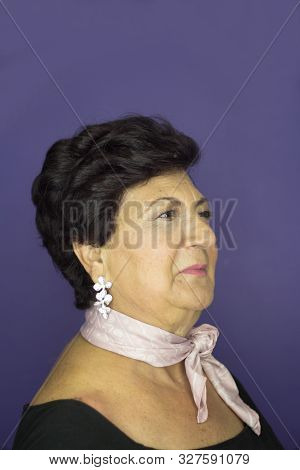 Middleaged Woman With Pinup Look