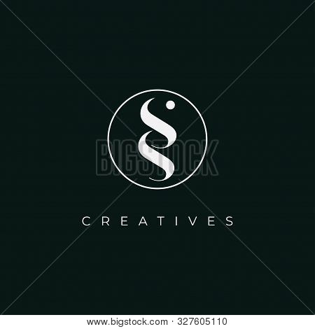 Double S Icon In The Circle.letter S S Icon Logo Design Template.creative Initial S S Symbol