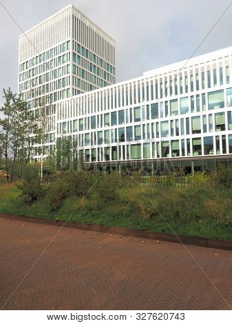 The Hague, Netherlands - September 27, 2019: The Eurojust Building Seat Of The Justice Department Of