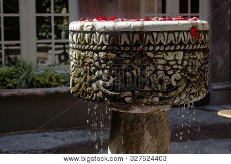 Mexican Baroque Fountain At San Miguel De Allende, State Og Guanajuato, Mexico