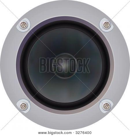 Powerful Loudspeaker (Vector)