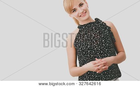 Portrait Of An Attractive Young Woman Standing