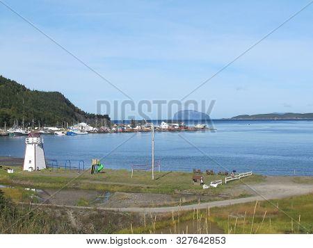 Small Local Fishing Village Along Hwy 440 Newfoundland