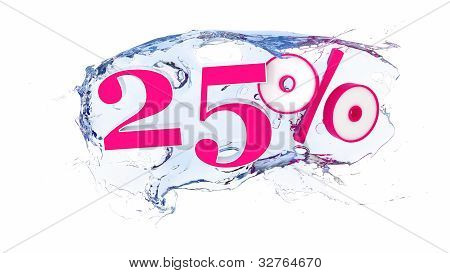 25 percent Summer Sale Or Discount Tags