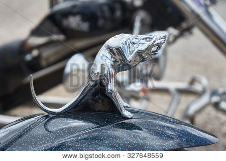 Pontarlier - Bourgogne Franche Comté France - June 16th 2019 - Rat With Open Mouth Motorcycle Mudgua