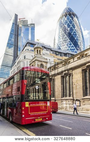 London. May 21 2019. A Street Scene In The City Of London In London
