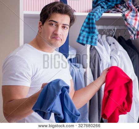 The man helpless with dirty clothing after separating from wife