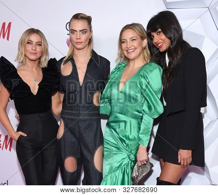 LOS ANGELES - OCT 13:  Julianne Hough, Cara Delevingne, Kate Hudson and Jameela Jamil arrives for the 2nd Annual Girl Up #GirlHero Awards on October 13, 2019 in Beverly Hills, CA