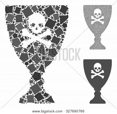 Poison Cup Composition Of Tremulant Parts In Variable Sizes And Color Tints, Based On Poison Cup Ico