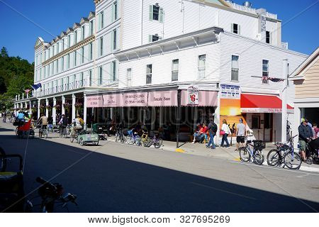 Mackinac Island, Michigan / United States - June 11, 2018: The Pancake House Offers Breakfast, Lunch