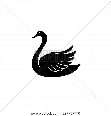 Swan Vector Icon. Swan Sign On White Background. Swan Icon For Web And App