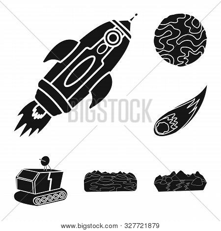 Isolated Object Of Colonization And Sky Logo. Collection Of Colonization And Galaxy Stock Symbol For