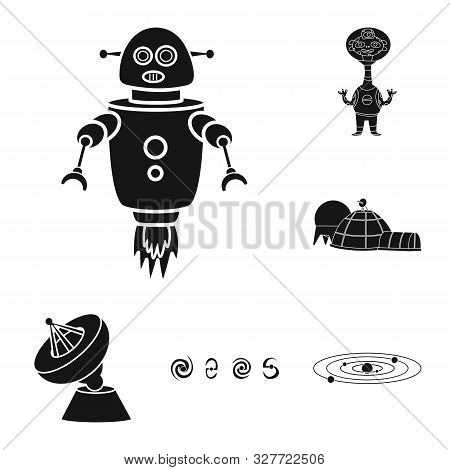 Vector Illustration Of Colonization And Sky Icon. Set Of Colonization And Galaxy Stock Symbol For We