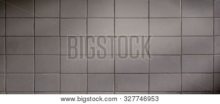 Backgrounds and textures. Old and grunge floor tile background in white colors with ambient light poster