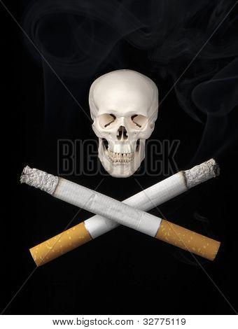Skull and cigarettes