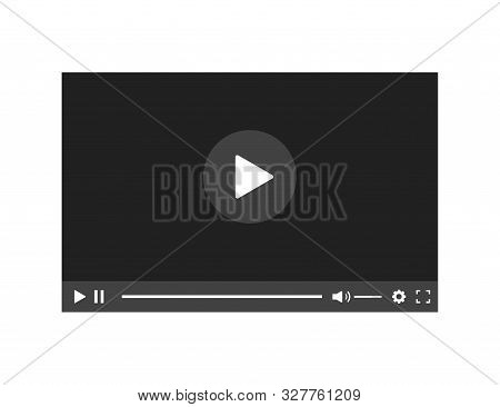 Video Player Isolated Vector Design Element. Flat Player Icon. Mockup Video. Template Video Frame. T