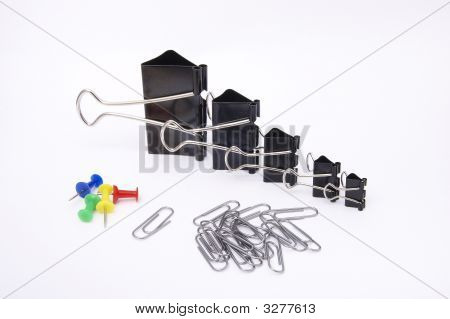 Stationary On A White Background