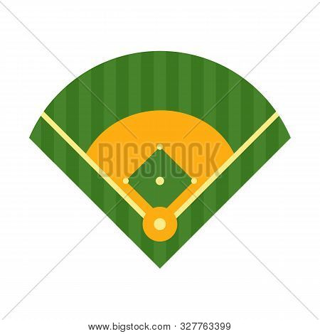 Baseball Field Icon. Flat Illustration Of Baseball Field Vector Icon For Web Design