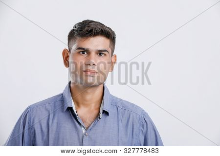 Young Indian Man Showing Multi Pal Expression