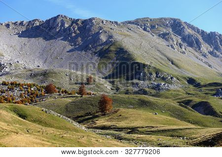 National Park Of Abruzzo, Lazio And Molise - A View Of The Mountains On The Meta Mountains