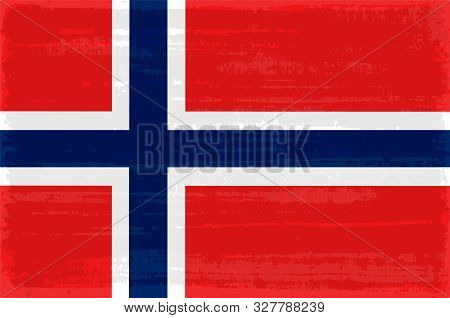 Norway National Flag Isolated Vector Illustration. Travel Map Design Graphic Element. Europe County