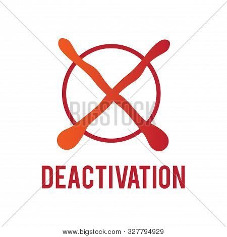 Vector Logo, Sign Of Deactivation And Inactivity Of The Account