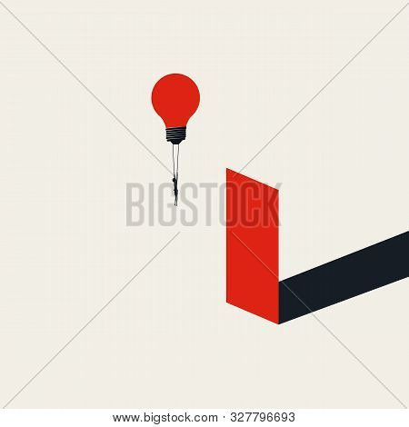 Business Challenge And Obstacle Overcoming For Women In Business Vector Concept. Symbol Of Opportuni