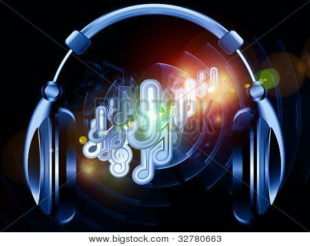poster of Headphones music background suitable as a backdrop for projects on music sound audiophile performance song party and entertainment