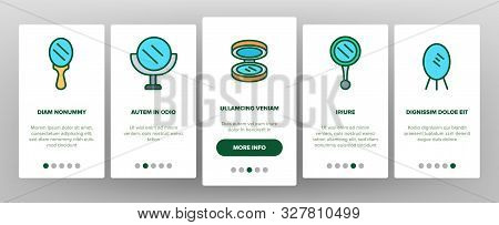 Mirror Different Form Onboarding Mobile App Page Screen Vector Thin Line. Broken And New, Ancient An