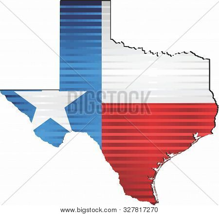Shiny Grunge Map Of The Texas - Illustration,  Three Dimensional Map Of Texas